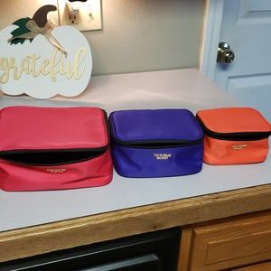 Set of 3 victoria secret cosmetic bags